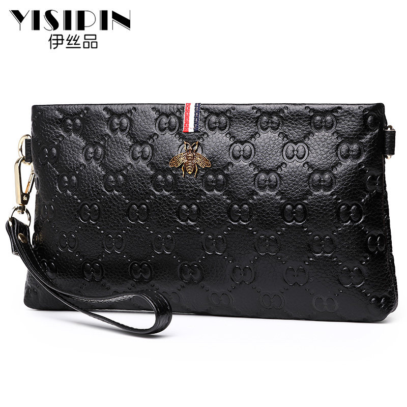 YISIPIN Female First layer cowhid Clutch Totes Women Shoulder bag Leather Messenger Bags fashion lady Satchel bag HandbagsYISIPIN Female First layer cowhid Clutch Totes Women Shoulder bag Leather Messenger Bags fashion lady Satchel bag Handbags