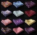 Пейсли цветочные мужчины шелковый атлас карманный площадь ханки сплетенные жаккардом классические свадебные ну вечеринку платок # a3