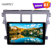 Harfey GPS Navigation System 9 Android 8.1 Radio For 2007 2012 Toyota VIOS Support TPM DVR Bluetooth USB 3G WiFi Remote Control
