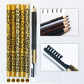 New Women Waterproof Eyebrow Pencil With Brush Make Up Leopard maquiagem 5 Colors Shadow To Eyebrow + 3pcs/set eyebrow