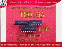 送料無料 5 個オリジナル T8016A T8016 DIP 16 IC 新 (QC20)