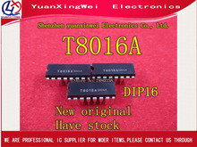 Free Shipping 5PCS Original T8016A T8016 DIP 16 IC NEW (QC20)