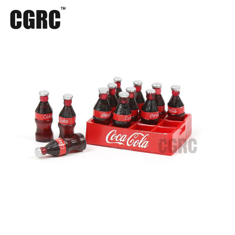 Mini Coke Bottle Tray Model Toys For Tamiya CC01 Axial SCX10 RC4WD D90 TF2 TRAXXAS TRX - 4 TRX4 1/10 Rc Crawler Car Decor parts tamiya tt 01 sc430