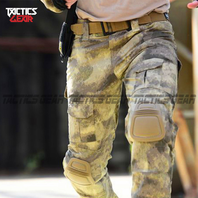 Outdoor tactical hunting camouflage training long-sleeved frog pants free shipping (no protective gear)