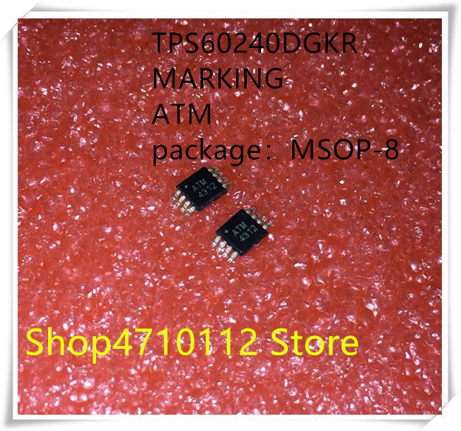 NEW 10PCS LOT TPS60240DGKR TPS60240 MARKING ATM MSOP 8 IC
