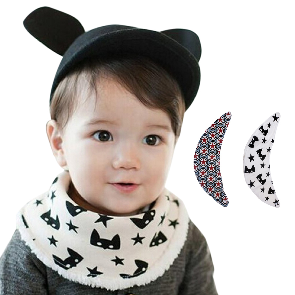 CHAMSGEND Drop Ship Newborn Infants Cartoon Baby Kid Towel Saliva Lunch Bibs Cotton Bandana Scarf Sep25