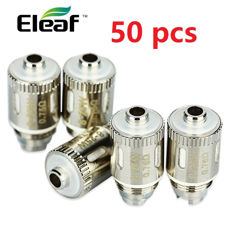 100% Original 5-50Pcs Eleaf GS Air 2 Atomizer Heads 0.75ohm Pure Cotton Heads For Eleaf GS-Air 2 Atomizer Head Resistance Vape
