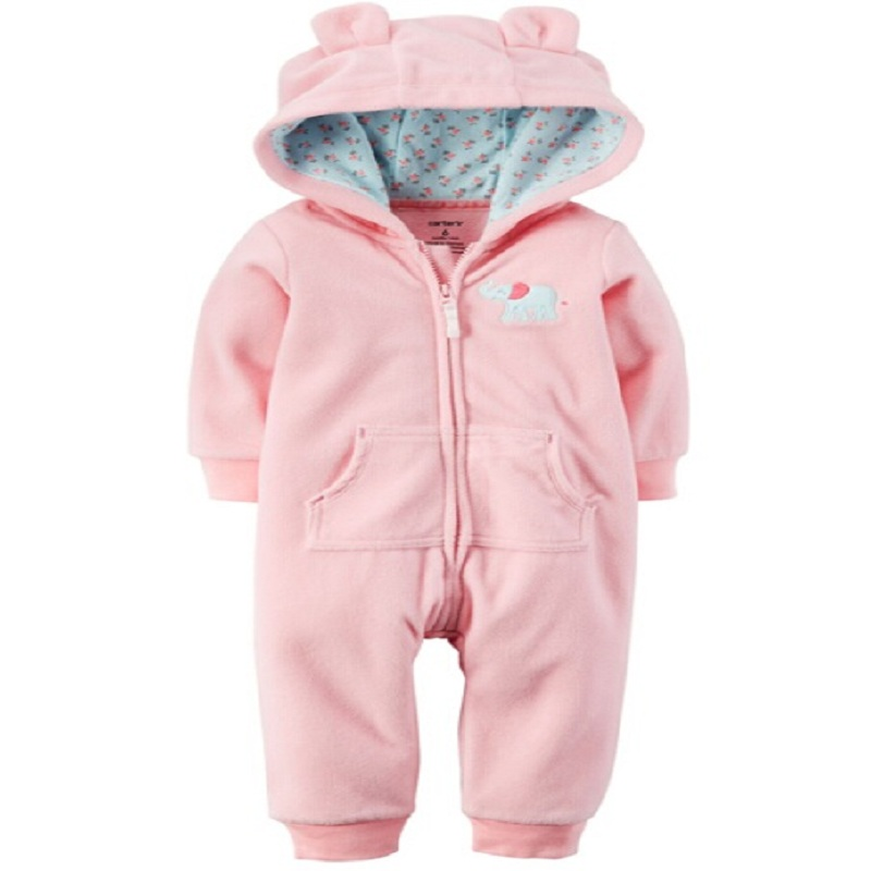 br076 polar fleece baby girls romper 2016 warm overall. Black Bedroom Furniture Sets. Home Design Ideas