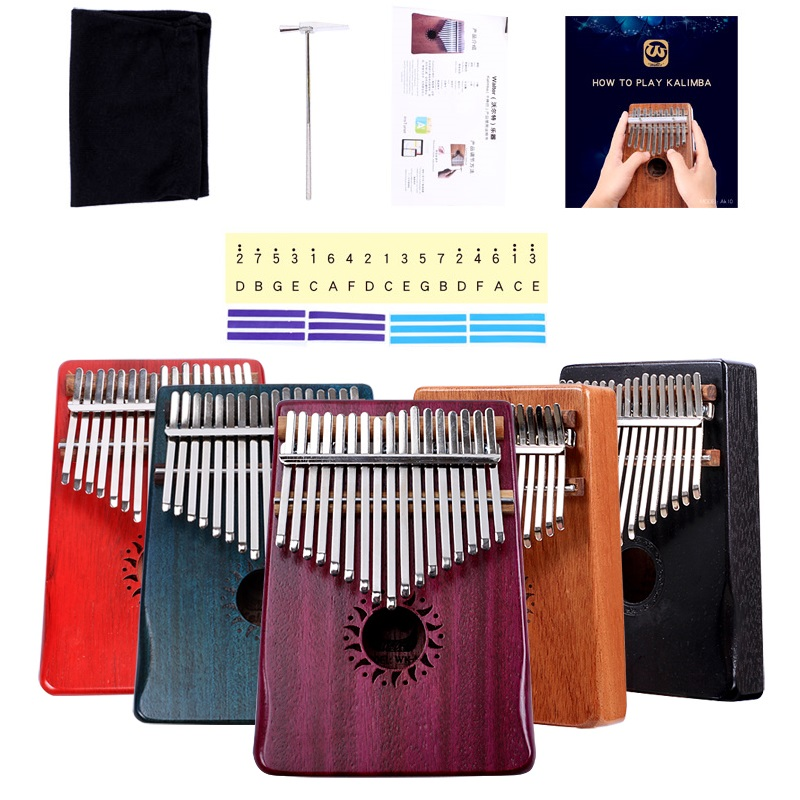 Free shipping Wooden KALIMBA 10keys thumb piano children enlightenment music instrument Kalimba 17keys African ethnic instrument