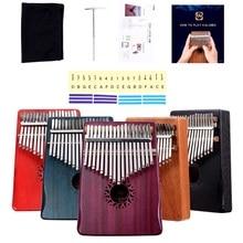 Wooden KALIMBA 10keys thumb piano children enlightenment music instrument Kalimba 17keys African ethnic 17 buttons