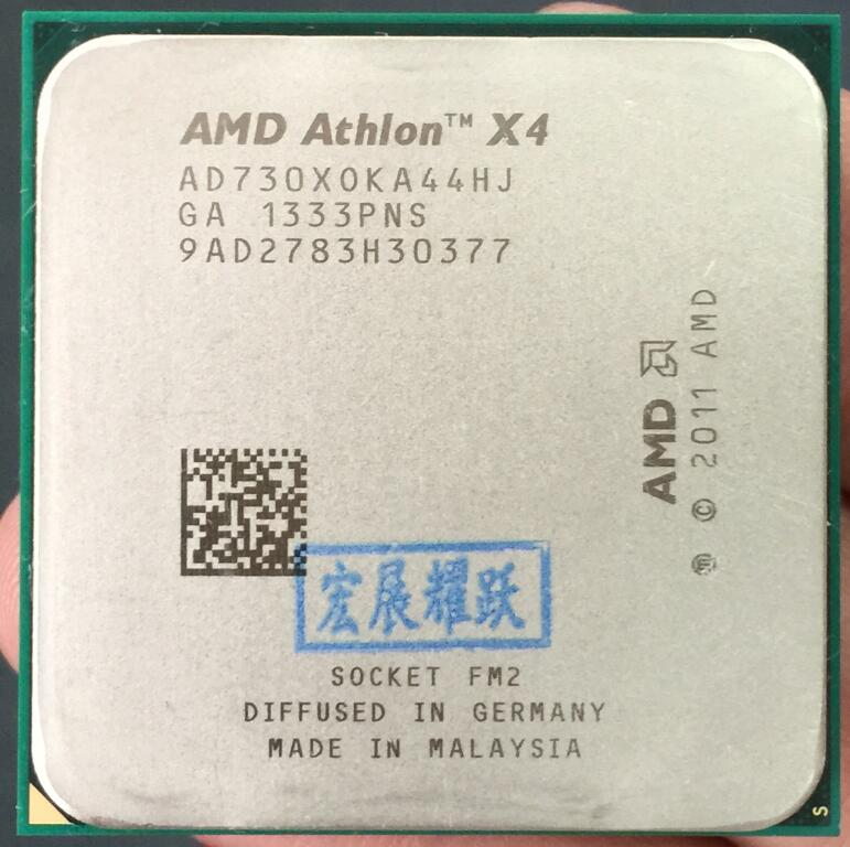 PC computer AMD Athlon X4 730 - AD730XOKA44HJ FM2 Quad-Core CPU 100% working properly Desktop Processor