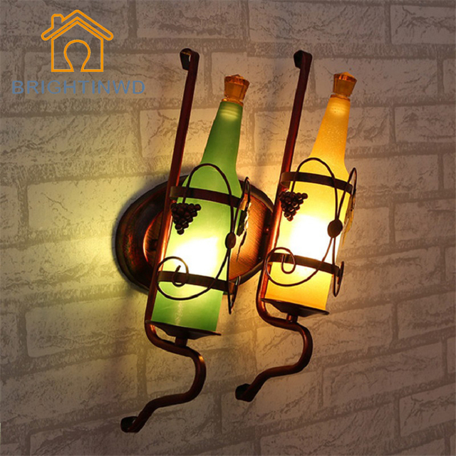 Vintage Rustikalen Wandlampen Bier Flasche Wand Lampe Fur Bar