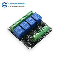 4 Channel 3V 5V 12V 24v Relay Module Relay Expansion Board Control Board With Optocoupler Isolation