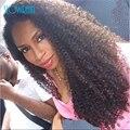 Высочайшее Качество Full Lace Человеческих Волос Парики Afro Kinky Вьющиеся парики Необработанные Бразильский Бесклеевого Полный Шнурок Курчавый Парик Для Черных женщины