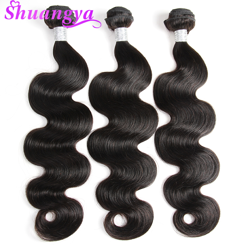3 Bundles Malaysian Body Wave Hair Bundles Natural Color Remy Human Hair Weave Bundles 8-28 Hair Extensions Free Shipping