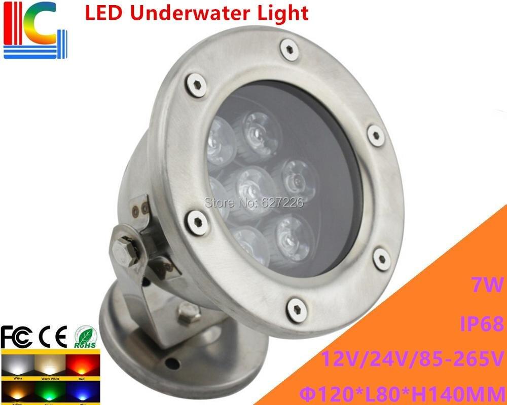 7W LED víz alatti világítás 12V 110V 220V víz alatti - Kültéri világítás