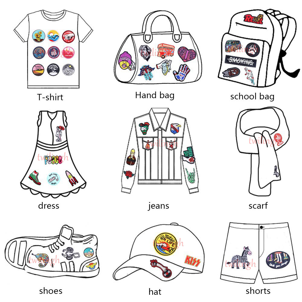 Small Iron on Patches for Clothing Red Mouth Lip shape embroidery sew on clothes patch for women kids T shirt backpacks repasser in Patches from Home Garden