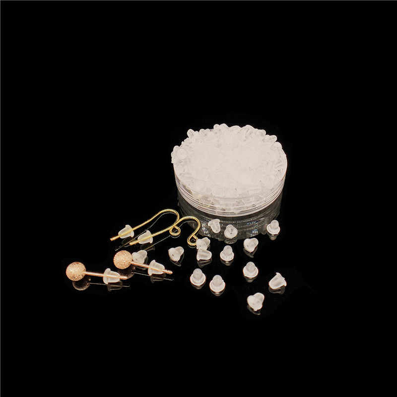 100 יח'\חבילה ברור רך סיליקון גומי עגיל מגבה מגופות בטיחות אביזרי DIY עגילי אגוזי ב ורכיבי אלקטרוניקה