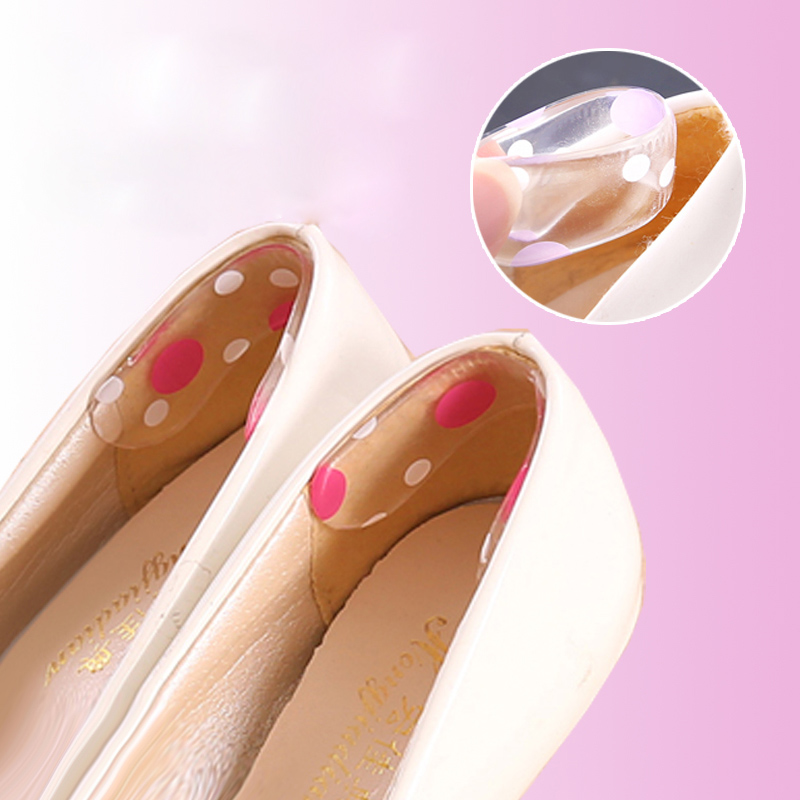Invisible Silica Silicone Gel Insoles Shoes Back Inserts Heel Liner Cushion Protector Foot Care Shoe Pads Grips Stickers
