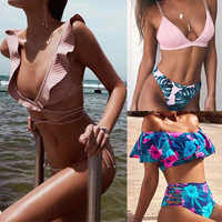 TCBSG Bikinis 2019 Sexy Swimwear Women Swimsuit Push Up Brazilian Bikini set Bandeau Summer Beach Bathing Suits female Biquini
