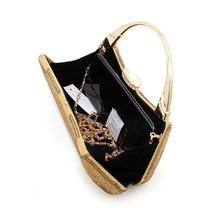 luxury rhinestones women clutch bags diamonds gold Totes ladies vintage chain evening bags crystal wedding bridal handbags purse