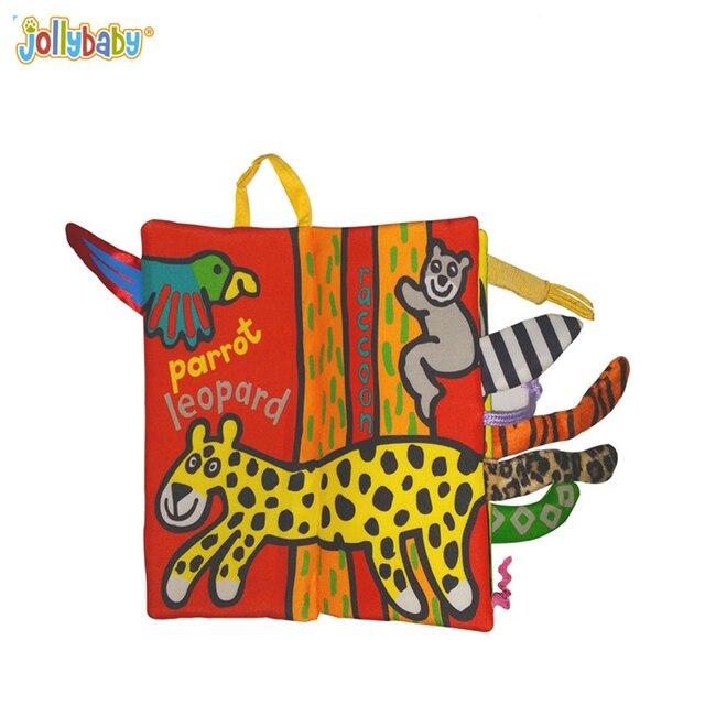 Nueva Jungle Animals Cola Paño Libro Seguro de Algodón Colorido ...