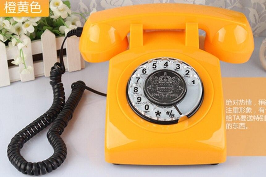 imágenes para Antiguo Rotación dial $ number teléfonos de Alta teléfonos antiguos de Europa Home teléfono con cable de 6 colores