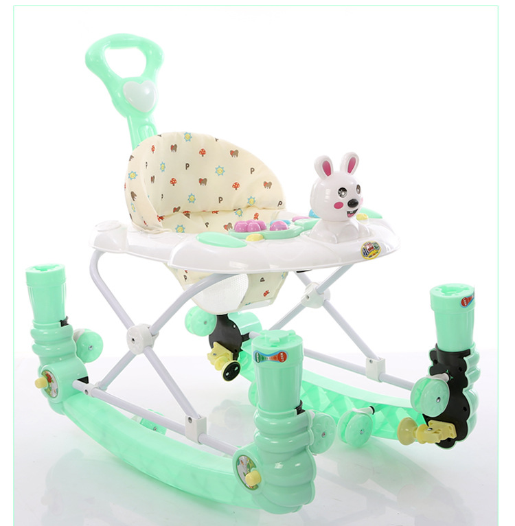 Multifunctional baby walker with music toys rollover opening double combo rocking horse rocking horse children rocking horse gift baby eating chair music ride on toy cute duck birthday walker amphibious toys 2 kinds of functions