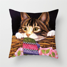 Fuwatacchi Cute Animals Pillow Covers Cats Dog Cushion Covers for Home Sofa Chair Decor Flowers Soft Pillowcases New 2019 цены