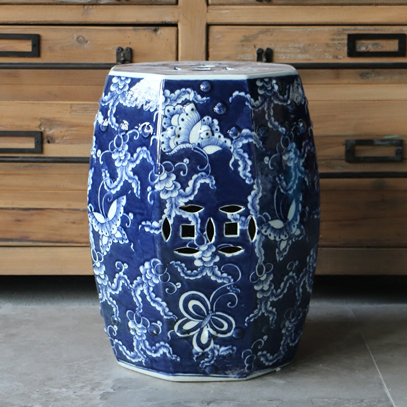 Wondrous Us 299 0 Jingdezhen Porcelain Garden Stool Ceramic Stool For Dressing Table Drum Chinese Blue And White Garden Stools In Stools Ottomans From Gamerscity Chair Design For Home Gamerscityorg