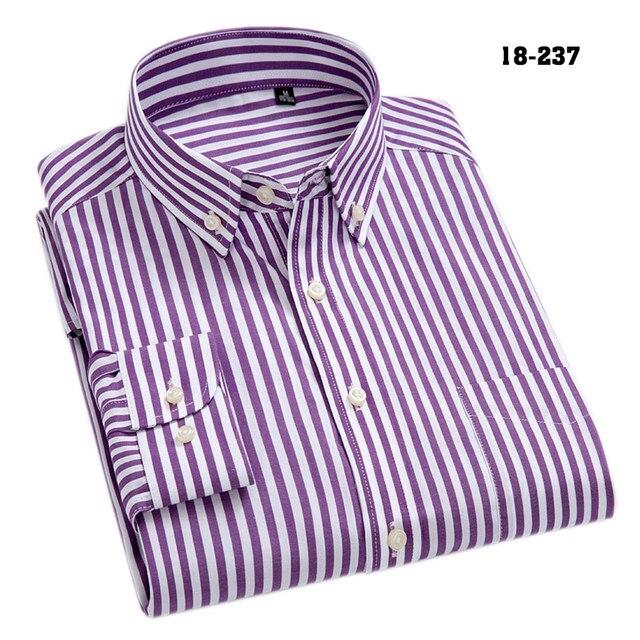 100% Cotton High-Grade Oxford Striped Social Shirts  4