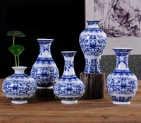 SNS 2018 Home Decoration Collection Ceramic Vase Antique Chinese Traditional Blue and White Porcelain Vase