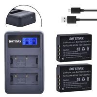 2Pcs 1260mAh NP W126 NP W126 NPW126 Batteries LCD Dual Charger For Fujifilm Fuji X Pro1