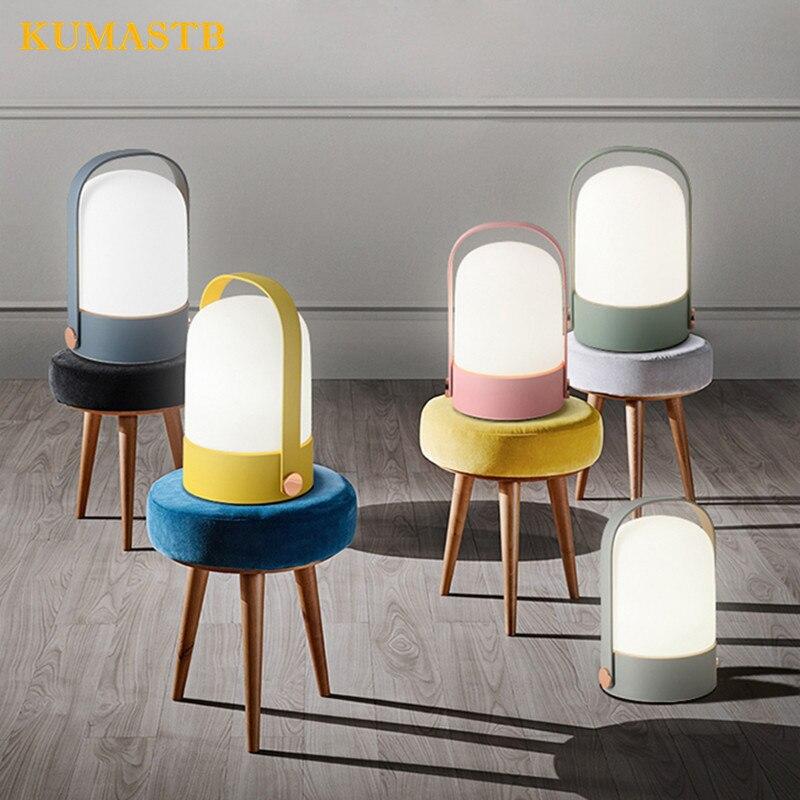 Moderne LED verre variateur lampe de Table minimaliste créatif bureau étude Table lumière chambre chevet lumière Bar Table bureau lampe