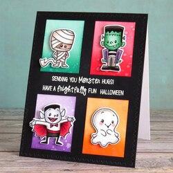 Monster Mash Transparent Klar Silikon Stempel/Dichtung für DIY Scrapbooking/Foto Album Dekorative Karte Machen Klar Briefmarken 4x6 zoll