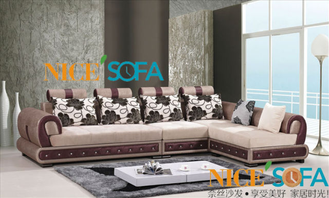 Simple Wooden Sofa Set Design Fabric Sofa Set 1051A#