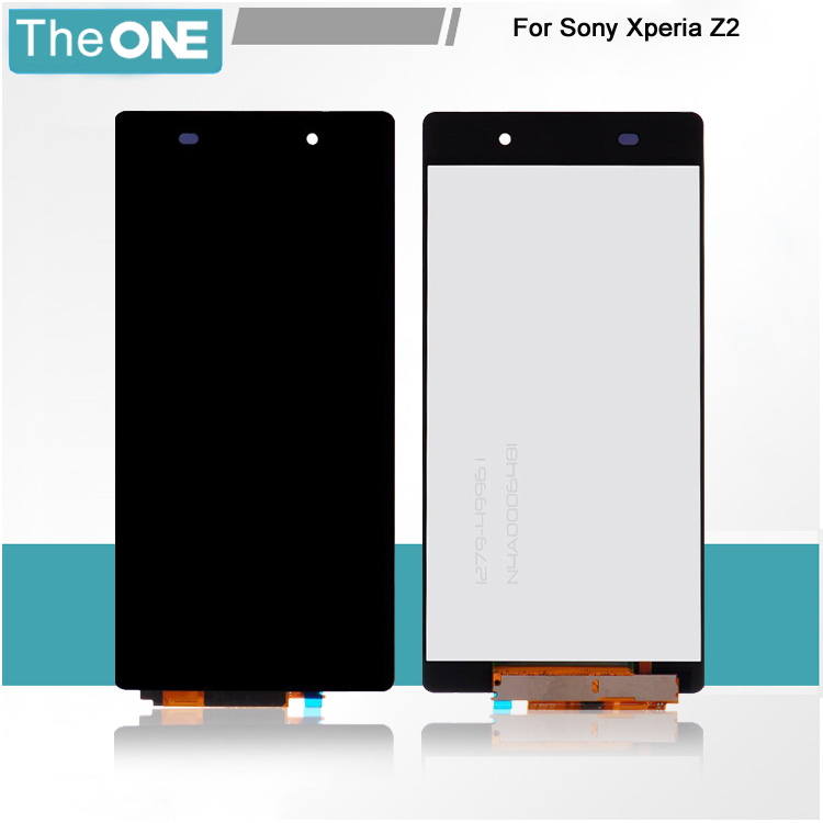 Black LCD Display For Sony Xperia Z2 D6502 D6503 D6543 L50W Touch screen digitizer Free shipping purple black options for sony xperia z2 l50w d6502 d6503 d6543 card slot port micro sd usb dust plug cove tracking