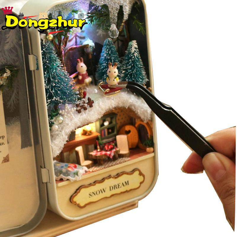 Dongzhur High Quality DIY Cottage Box Theater Handmade Building Toy House Assembly Handcraft Villa Model Rabbit 5 Styles