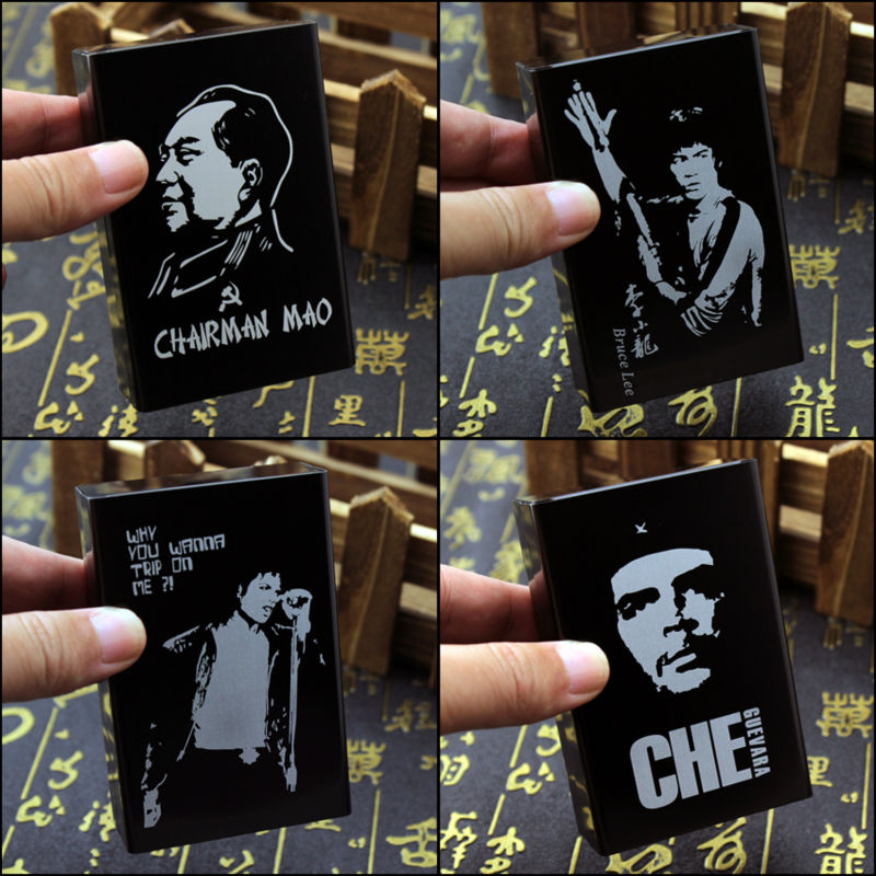 Metal Aluminium Alloy Che Guevara John Lennon Michael Jackson Marilyn Monroe Bruce Lee Mao Creative Souvenir Cigarettes Case