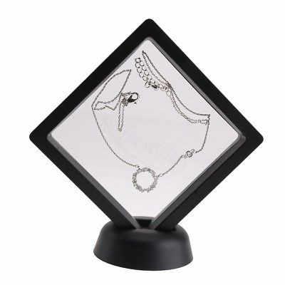 Clear Perhiasan Ditangguhkan Koin Floating Tampilan Case Dengan Dudukan Dasar Permata Artefak Dudukan Mudah Digunakan Multifungsi Kotak L * 5
