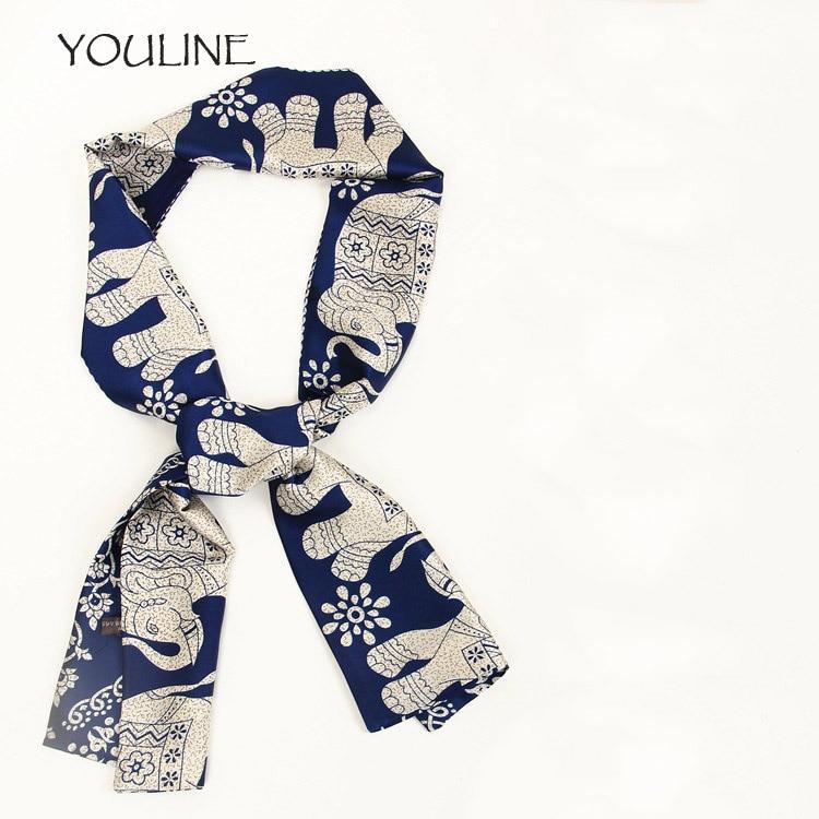 YOULINE 2017 Silk multifunction small Scarf, Animated scarf , neck, head, decoration on waist, hair, on hat or handbag S17143