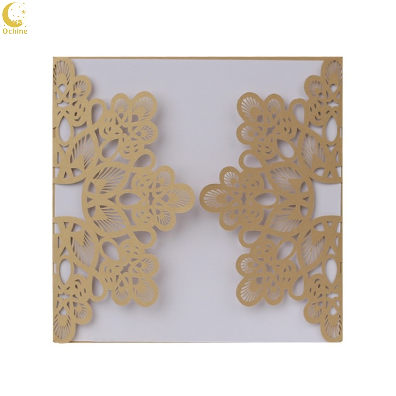 Ochine 10pcs/lot Hollow Wedding Invitation Cards Card Paper And Cover Kit For Wedding Birthday Shower Party Decoration