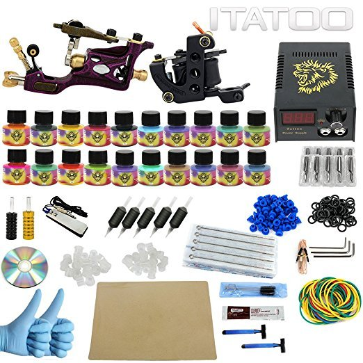 ITATOO Tattoo Kit Cheap Beginner Coil Tattoo Machine Set Kit Tattoo ...