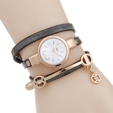 New Sloggi Fashion Women Bracelet Watch Gold Quartz Gift Watch Wristwatch Women Dress Leather Casual Bracelet Watches