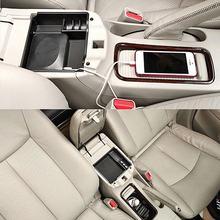 Caja de almacenamiento para apoyabrazos de coche para Nissan Sentra Pulsar, bandeja de guante para consola Central, 2013, 2014, 2015, 2016, 2017