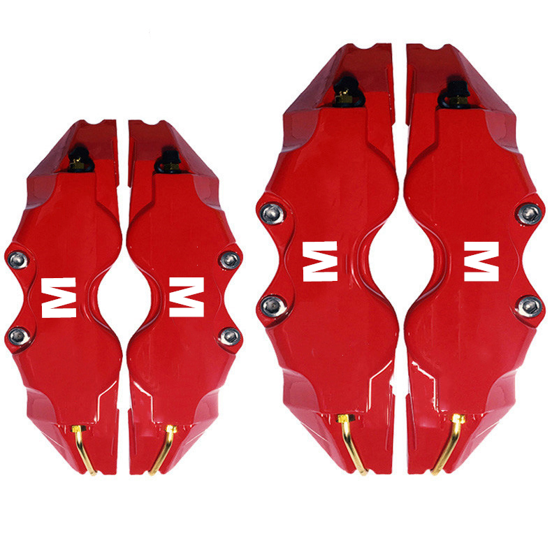 1Set Car Accessories M Decal Universal Disc Brake Caliper Cover Front Rear for BMW M Logo