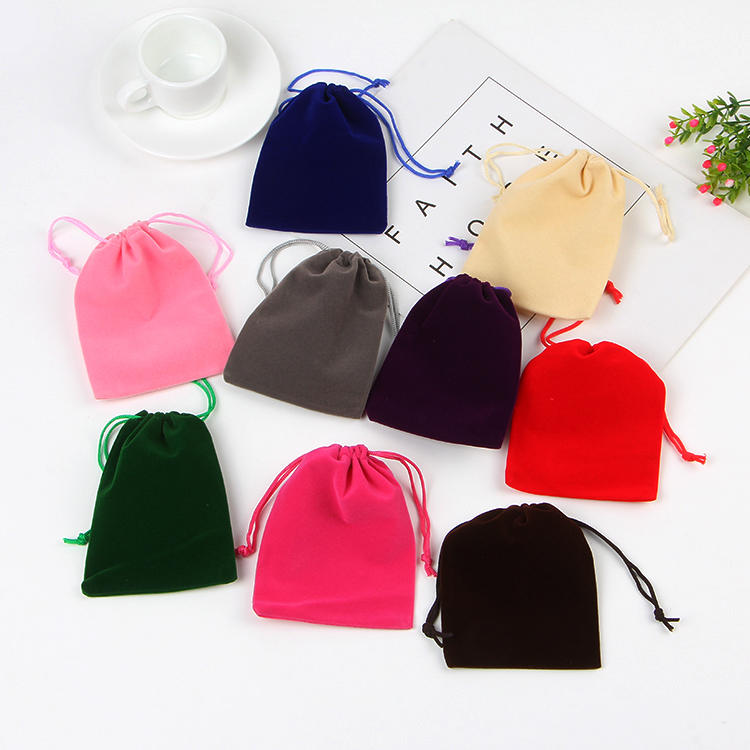 5pcs 9x12cm Many Colors Soft Drawstring Velvet Bags Pouches Jewelry Bags Christmas Valentines Gifts Bags Jewelry Bags