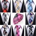Comercio al por mayor 145*5 cm de Los Hombres Lazos de Los Hombres de cuadrícula Corbata A Rayas Corbatas Estrechas Corbatas Business Casual 8 Color