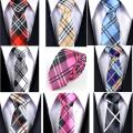 Wholesale 145*5cm Men's Neckties Business Casual Ties Men Tie Striped grid Narrow Neckties 8 Color