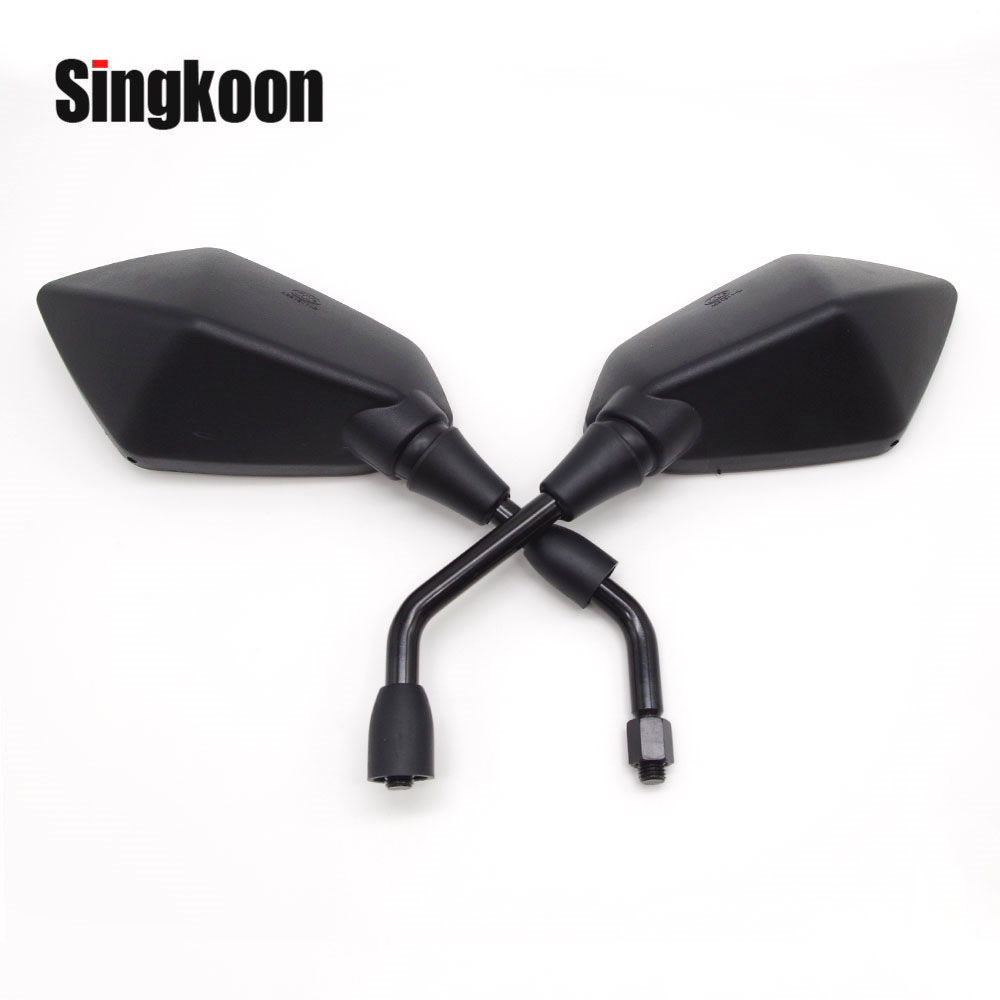 Universal 10mm motorcycle mirror Accessories Black Side Rearview Mirrors FOR cf moto x8 <font><b>yamaha</b></font> <font><b>rd</b></font> <font><b>350</b></font> mt 07 mt07 hyosung 125 image
